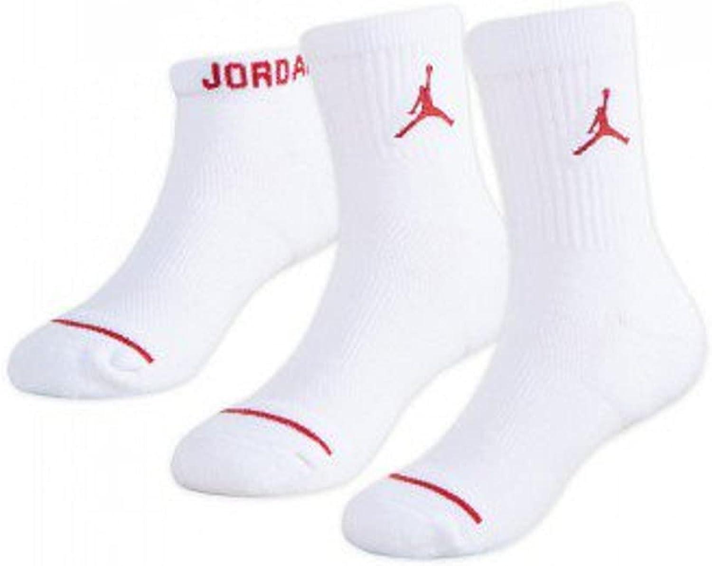 Jordan Waterfall 3 Pack Socks Crew/Ankle/No Show Boys Size 7C-10C