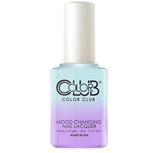 Color Club Blue Skies Ahead Color Club Nail Lacquer .5 Fl Ounce - 15 Ml, Color Changing Mood Nail Lacquer, 0.5 fluid_ounces