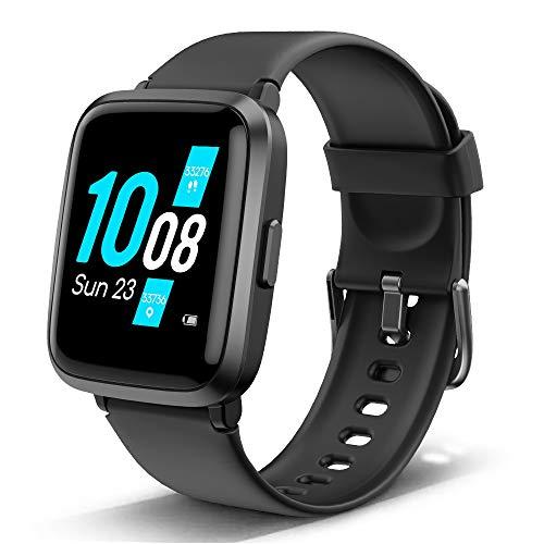 Lintelek Smartwatch Fitness Armband mit Blutdruck Messgeräte Herzfrequenzmesser Schlafmonitor,Voll-Touchscreen Wasserdicht 5ATM Fitness Tracker für Damen Herren Kompatibel iOS und Android