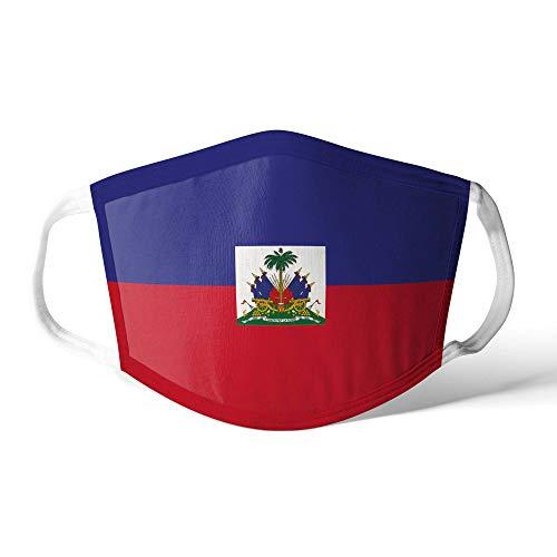 M&schutz Maske Stoffmaske Groß Amerika Flagge Haiti/Haitian Wiederverwendbar Waschbar Weiches Baumwollgefühl Polyester Fabrik