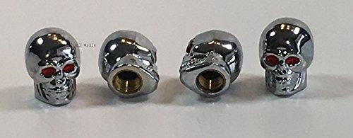 4 St/ück silber Ventil Kappen wadle-shop /® Ventilkappen Deutschland