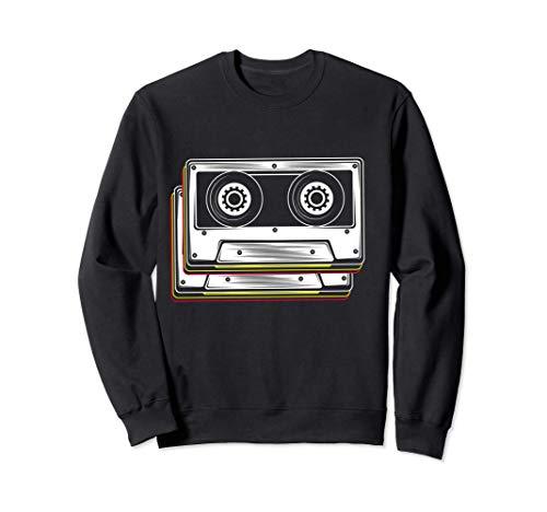 Disfraz de cinta de cassette 80s 90s Retro Sudadera