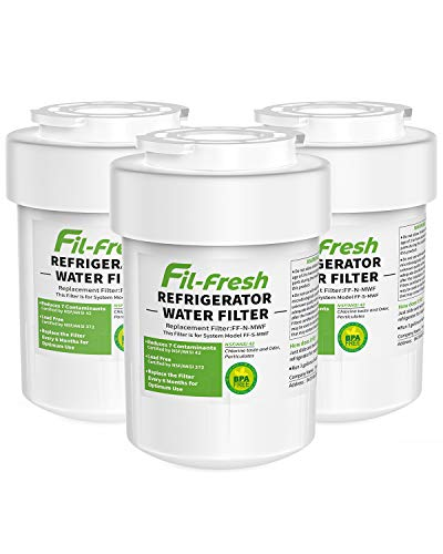 MWF, HDX FMG-1 Water Filter Compatible with GE Refrigerator, 3-Pack