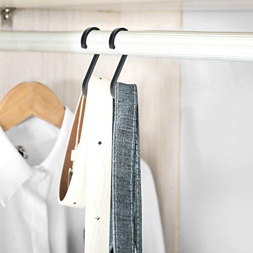 WINCANG 12 Pack S Hooks Black Aluminum S Shaped Hooks Heavy Duty Lightweight S Hanging Hangers Hooks for Pots, Pans,Plants, Cups, Bags,Clothes,Towels
