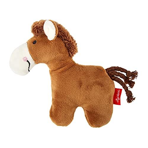SIGIKID 41174 Rassel Pferd Red Stars Mädchen und Jungen Babyspielzeug empfohlen ab Geburt braun