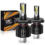 Bombillas de faros LED H4 Led Car light 60W 12000Lumens Super Bright Impermeable Faros Conversión Temperatura de color 6500K IP65 Paquete de 2