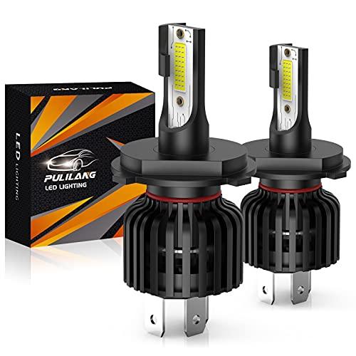 Pulilang Ampoule H4 Led Phares pour Voiture, 12000LM 60W 6500K- Rechange pour Lampes Halogènes et Kit Xenon, 2 Ampoules