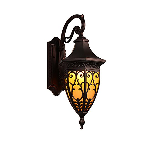 Flashing Vintage wandlamp, waterdicht, lampenkap van marmer, Europese stijl, buitenverlichting, voor villa, deur, hal, wand, buiten