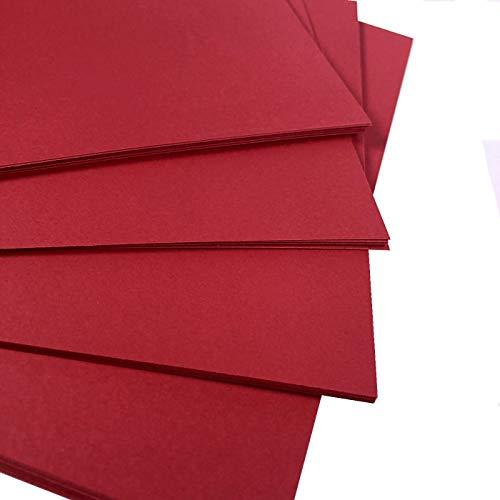 A6 Rot Karten Papier Drucker - 160g/m² 40 Blatt - Farbige Bastelkarte - geeignet für Basteln, Drucken, Kopieren, Fotokopieren