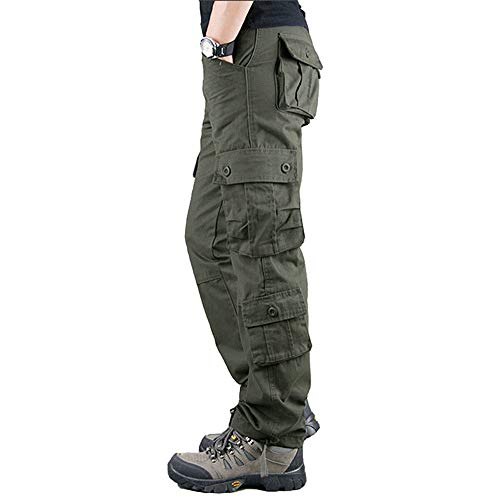 Men's Waterproof Hiking Pants,Tactical Combat Military Pants Outdoor Work Cargo Pants Multi-Pocket Workwear