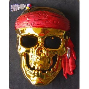 Anta also set skeleton!-Star Costume / Mask / masquerade pirate-style gold and silver two from today (japan import)