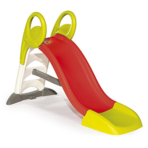 Smoby 310262 – KS Rutsche – kompakte Kinderrutsche mit Wasseranschluss, 1,5 Meter lang, mit Rutschauslauf, Verstrebung, Haltegriffen, für Kinder ab 2 Jahren