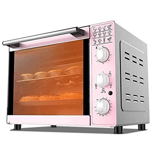 Horno eléctrico 33L, horno halógeno Hogar automático 1600W - con horno de tostadora de temporizador de 60 minutos, incluida la red a la parrilla, la bandeja para hornear y los guantes anti-escaldad