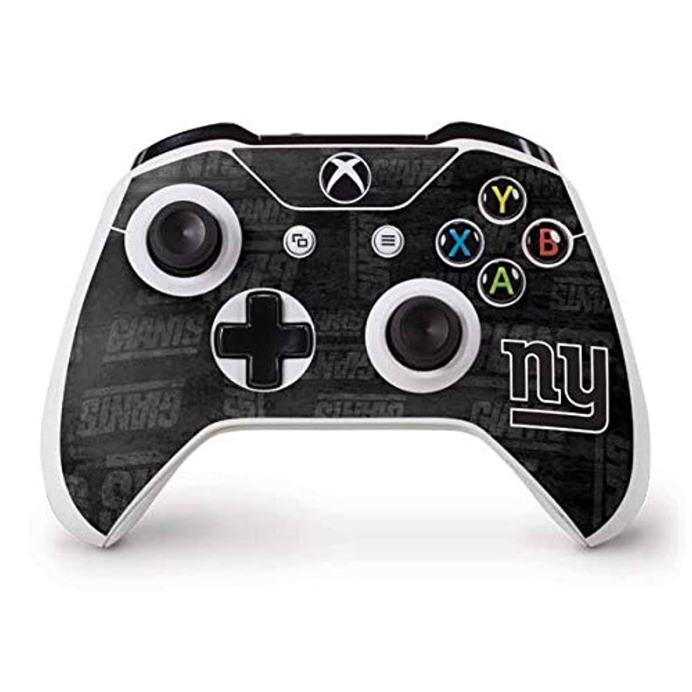 Skinit New York Giants Black & White Xbox One S Controller Skin - Officially Licensed NFL Gaming Decal - Ultra Thin, Lightweight Vinyl Decal Protection