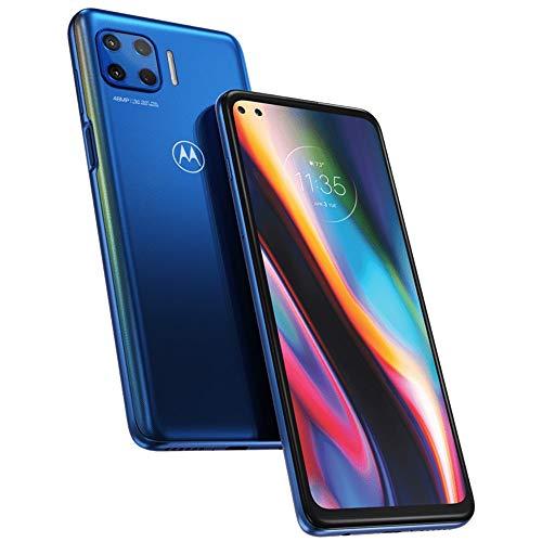 Moto G 5G Plus (128GB, 6GB) 6.7  FHD+, Snapdragon 765, 5000mAh Battery (Euro 5G Only Global 4G LTE) GSM Unlocked International Model XT2075-3 (Surfing Blue)