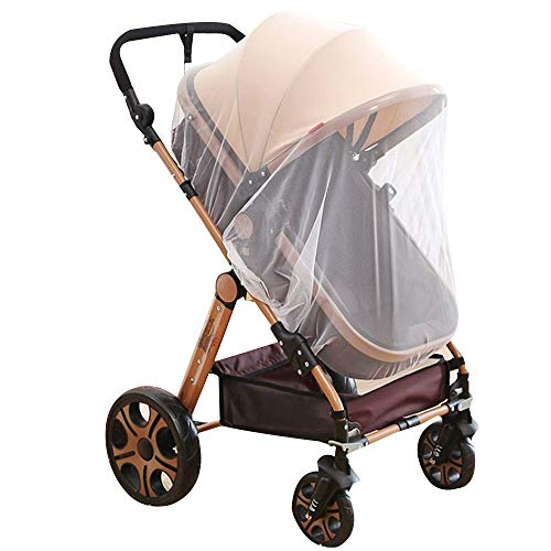 Meliya Universal Baby Stroller Insect Net Fine Mesh Mosquito Protection Net for Pushchair, Pram, Buggy, Carrycot and Travel Cot