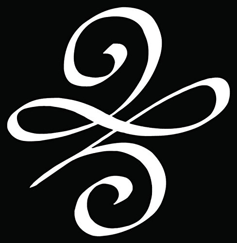 Celtic New Beginnings Symbol Car Truck Window Bumper Vinyl Graphic Decal Sticker- (8 inch) / (20 cm) Tall GLOSS WHITE Color