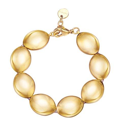 Esprit Fashion Damen-Armreif ES-PROMINENT GOLD Edelstahl rhodiniert 20 cm - ESBR11809B180