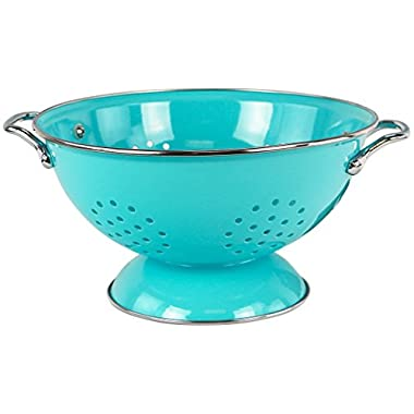 Calypso Basics by Reston Lloyd Powder Coated Enameled Colander, 3-Quart, Turquoise