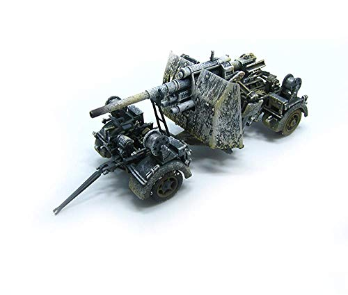 KAIGE 1:72 Militar del Modelo del Tanque, la Segunda Guerra Mundial Alemania Flak36 Terminado Modelo, coleccionables (5.1Inch Veces, los Tiempos de 2 Pulgadas; 1.6inch) WKY