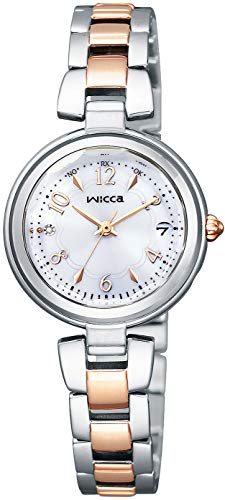 [シチズン] 腕時計 ウィッカ ソーラーテック電波時計 #ときめくダイヤ KS1-538-11 レディース シルバー