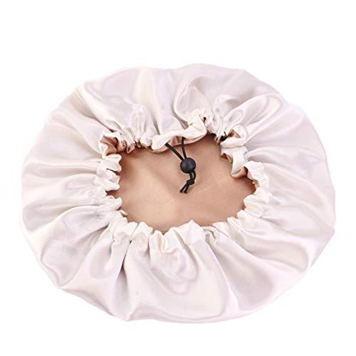 PRETYZOOM Bonnet en Satin Chimio Turban Casquette Gommage Chirurgical Sommeil Bouffant Couverture de Tête Casquette de Chimiothérapie pour Salon Beauté Maquillage Hôpital Utilisation Kaki