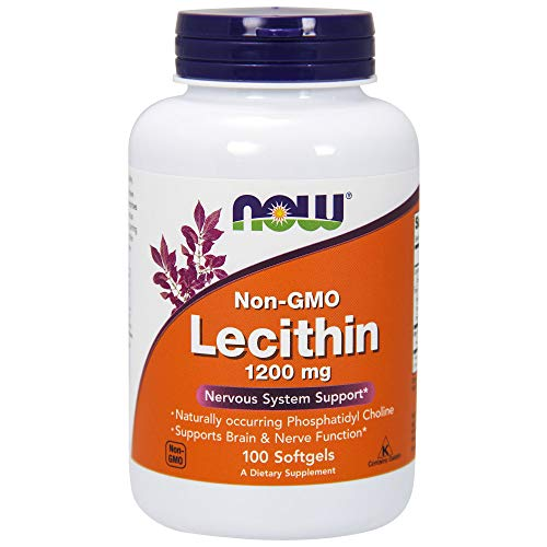 Now Foods Lecithin 1200mg, Soft-gels, 100-Count