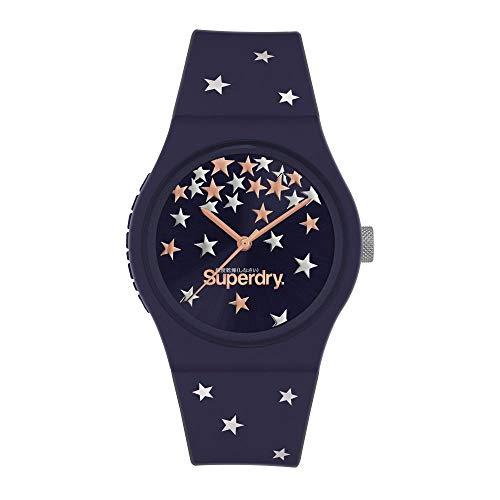 Superdry Damen Analoger Quarz Uhr mit Silicone Armband SYL275U