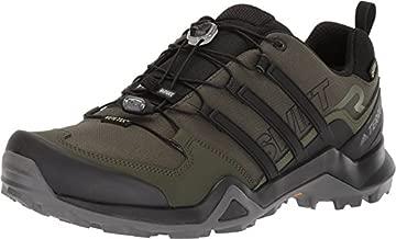 adidas Men's Terrex Swift R2 Gore-tex Hiking Walking Shoe, Night Cargo/Core Black/Base Green, 10.5