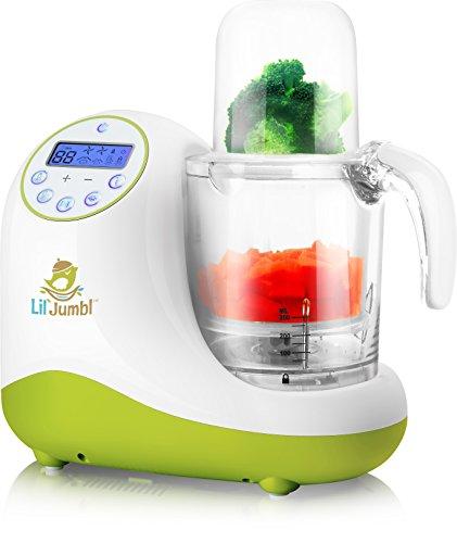 Lil' Jumbl Versatile Baby Food Maker, Mill, Grinder, Blender, Steamer, Reheat, Bottle & Pacifier Warmer & Sterilizer. Digital Controls, LCD Display, Timer & Bowl Lock System. 2 Foods at Once.