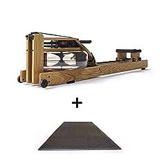 Dąb waterrrower z matą zabezpieczającą podłogę Rower Po składany ze sprzętu fitness wykonanego z drewna & S4 monitor maszyny wioślarskiej do domu