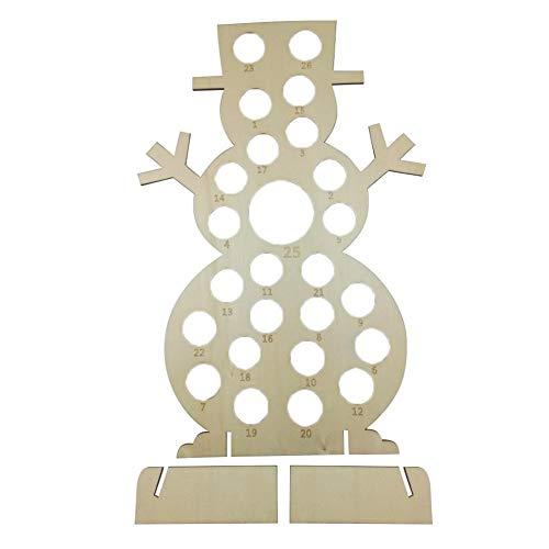 Personalisierter Ferrero Rocher Stand,libelyef Handgemachte Hölzerne Weihnachten Adventskalender, Schokoladenständer Halter Aushöhlen Weihnachtsbaum Santa Claus Für Inneneinrichtungen