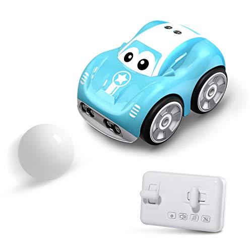 DEERC ラジコンカー こども向け リモコンカー フォローモード 障害物回避モード パストラックモード 犬 猫 ペットおもちゃ 電動RCカー おもちゃ 車 2.4Ghz無線 プレゼント 贈り物 DE33Y(青)