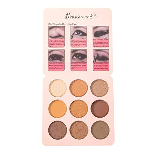 Nourich Palette Fard À Paupière Maquillage Yeux Professionnel Glitter Eyeshadow Mineral Yeux Eyeshadow Pigments Poudre Nouveau Lot de 9 couleurs Pigment Texture Eye Shadow Maquillage (03#)