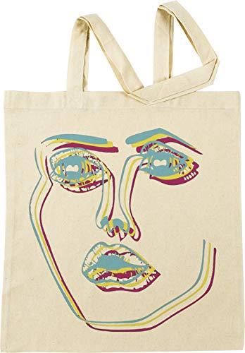 Vendax Tri-Color Bekanntgabe Gesicht Beige Einkaufstasche