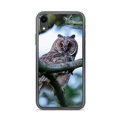 blitzversand Handyhülle Wilde Tiere kompatibel für Samsung Galaxy S4 Mini Eule Baum Schutz Hülle Case Bumper transparent rund um Schutz Cartoon M13