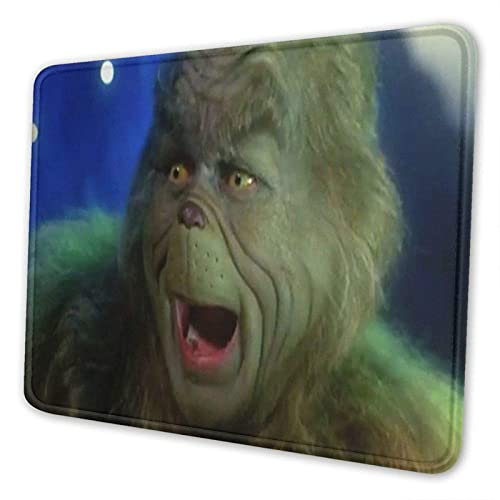 XCNGG Alfombrilla para ratón The Grin-ch Mousepad Mousepad Extra Large Silicone Gaming Anime Mouse Mat for Computer/Laptop 7×8.6in