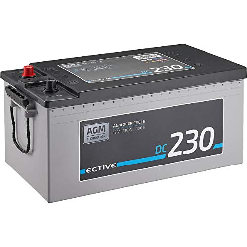 ECTIVE 230Ah 12V AGM Batterie DC 230 VRLA Versorgungsbatterie in 7 Varianten: 70Ah - 230 Ah (wartungsfrei)