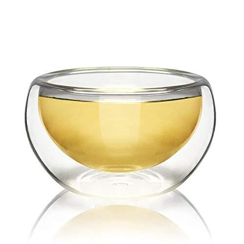 WXCL 50ML Hitzebeständige Doppelglas-Teetasse Weinkaffeetasse Transparentes Getränk Utensilienglaswaren Haushalt, Russische Föderation