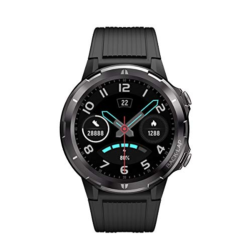 Smart Watch,Activity Tracker with 1.3 Inch Touch Screen, Smartwatch for Android Phones Compatible with iPhone,5ATM Waterproof Smart Watches for Men Women Black