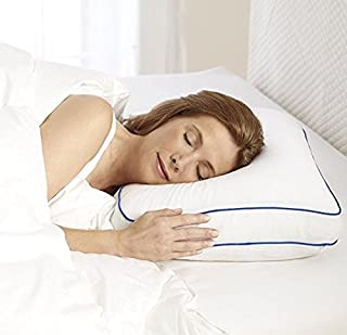 Sleep Innovations Cooling Gel Ventilated Memory Foam Side Sleeper Pillow, with Breathable Cover, Made in The USA with a 5-Year Warranty