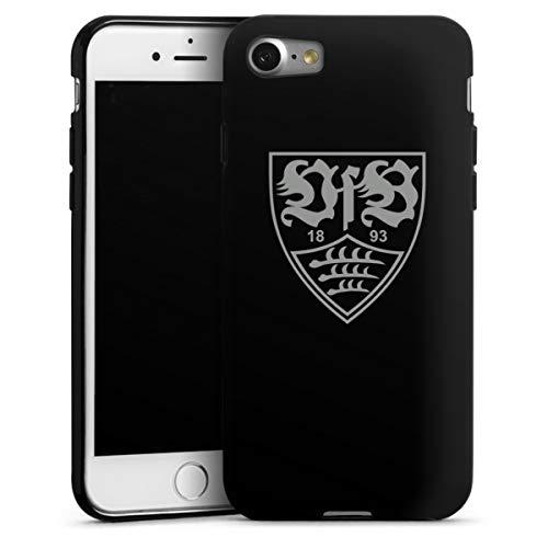 DeinDesign Silikon Hülle kompatibel mit Apple iPhone 7 Case schwarz Handyhülle Offizielles Lizenzprodukt VfB Stuttgart Bundesliga