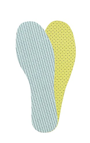 Double Latex Foam Layer Unisex Shoe Insoles Inserts Neutralizing Odours, Kaps Duo Latex, 44 EUR / 10 UK / Men, Multicolour