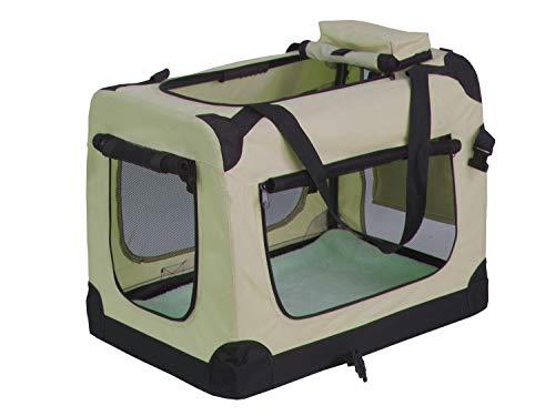 weico Hundebox Transportbox Auto Hundetransportbox faltbar Katzenbox Katzentransportbox Oxford Gewebe Tragetasche Hund Katze Haustier, (S = 50 x 35 x 35, beige)