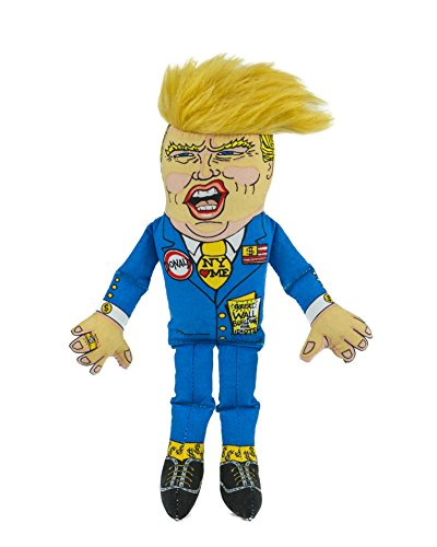 "FUZZU Donald Trump Political Parody Novelty Dog Chew Toy with Squeaker - Small 12"" Size Toy"