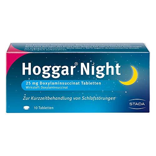 Hoggar Night – Schlaftabletten zur Hilfe beim Einschlafen und bei akuten Schlafstörungen – Gut verträglich, für erholsamen Schlaf – 1 x 10 Tabletten