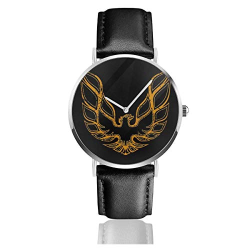 Unisex Business Casual Pontiac Firebird Uhren Quarz Lederuhr