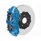 OMAC Bremssattellack Bremssattelfarbe Auto Lack Set   Bremsenreiniger und das Härtemittel Hitzebeständig Komplettsatz für 4 Bremssättel 7-teiliges Florida Blau