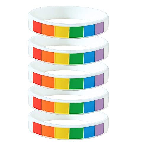5 unidades de pulsera de goma de silicona para gay y lesbianas con texto de orgullo para desfile de orgullo