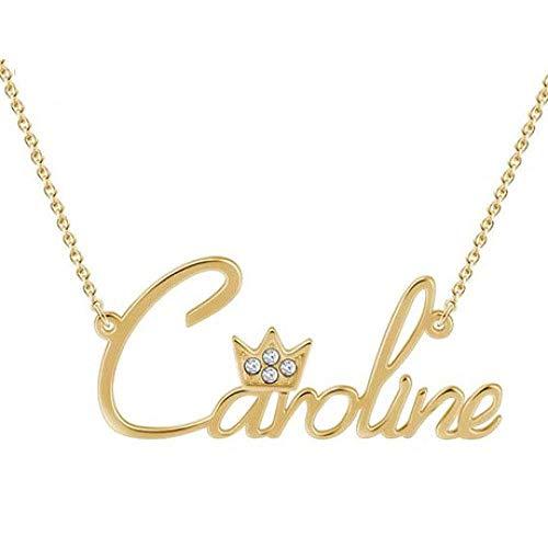 Kettingen 925 sterling zilver juwelen kroon met diamant letter naam ketting met sieraden doos vrouwen wilde sieraden, Thumby